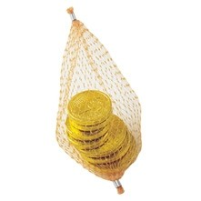 Chocolate Coins in Mesh Net