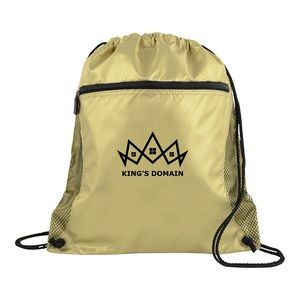 Mesh Pocket Drawcord Sport Pack Backpack