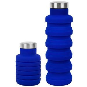 17 oz Collapsible Silicon Water Bottle